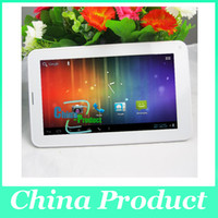 al por mayor android tablet with sim card slot-PC 7inch Allwinner A23 phablet 2G GSM tableta del teléfono con la tarjeta Sim 512M Slot + 4G Bluetooth doble cámara de Android 4.0 Dual Core 002396