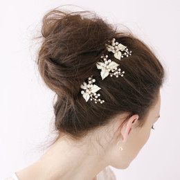 3pcs Petite Enamel Leaf Tiaras Bobby Pin Bridal Hair Accessories Pins Wedding Hair Pins Pin Up Hair Accessories For Wedding Brides Girls