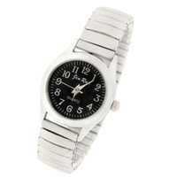Wholesale Classical Stretchy Wrist Watch with Black White Dial Silver Dia CM Dial