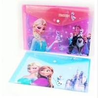 Wholesale 2014 new FROZEN Romance snow treasure adventure Snow Queen file bags A4 paper folder frozenC57