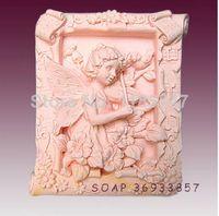 Cheap Pretty girl play violin shaped art silicone mold , soap mold silicone soap mold for handmade crafts ,cake tools mold