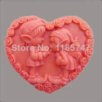 Wholesale Hot New arrivals heart shaped girl style softer silicone mold heart soap mold silicone cake mold