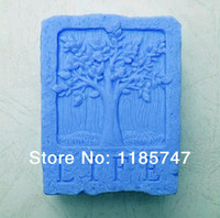 Wholesale Christmas tree soap mold handmade silicone craft mold for soap candle cake