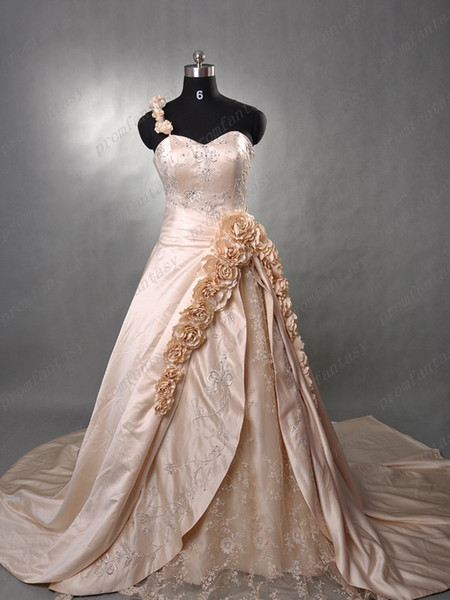 Gold Embroidery Wedding Dress Embroidery Wedding Dresses