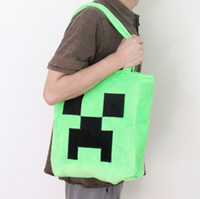 Wholesale hot new game Minecraft Creeper plush bag handbag
