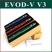 Cheap Rainbow EVOD Battery Original EVOD V V3 Variable Voltage Battery with LCD Display 3.0-6.0V USB Passthrough Battery for eGo 510 E Cigarettes