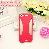audio speaker cover - Special Loudspeaker Case for iphone S Volume Up Speaker Cases Voice Amplify Enhance Back Cover with Pending Audio Channels Retail Package