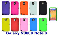 For Samsung Silicone  PU and Silicone 3 in 1 hybrid Hard Back Case for for Samsung Galaxy N9000 Note 3 Note3 MOQ 300pcs