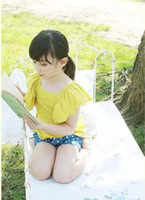 Wholesale children clothes new summer Boats sleeve T shirt dandys