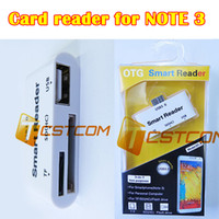 Cheap 20pcs New 3 in1 USB Connection Kit OTG HUB Micro USB SD MMC TF Card Reader Smart For Galaxy Note3 i9600 Free Shipping