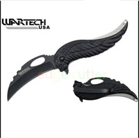 Wholesale Wartech quot Assisted Open Folding Tactical Pocket Knife Skull Angel Design Handle