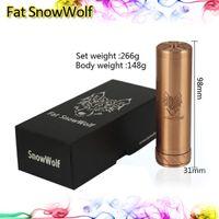 Wholesale Fat SnowWolf Mod E Cigarette Full Machanical Mod for Battery Red Copper Fat SnowWolf Clone Mod Thread e Cig Battery Tube