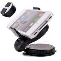For Samsung   Universal Car Windshield Mini Windscreen Holder Swivel Mount For Galaxy S4 i9500 S3 iphone 4 4S 5 GPS Phone