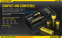 Wholesale Nitecore Battery Charger Nitecore D2 Digicharger Universal Intelligent Charger LCD Display US UK EU AU Nitecore D2 With Retail Package