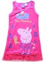 Cheap 2014 New style Children's Pajamas girl PEPPA PIG night skirt sleepwear pajamas kids pyjamas 2-6T 7pcs lot kids clothing