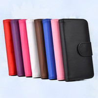 Cheap Flip PU Leather Cover Case For Iphone 5 5S 5G Carry Wallet With ID Credit Card Slots Stand Holder