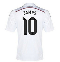 Wholesale 2014 Reals Madrid James Soccer Jerseys Thai Quality Lowest Price Best Sell Soccer Jerseys Well Stitch Logos Discount Sports Apparel