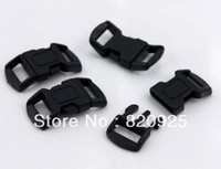 Wholesale inch Side Release Paracord Bracelet Buckles Black Strap
