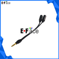Wholesale D14067 mm Earphone Headphone Y Splitter Cable Adapter Do Free DHL Shipping