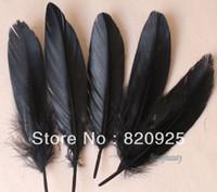 Wholesale 100pcs Black Color Goose Feather Wedding Party DIY Decor Crafts cm