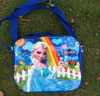 Hangbags best kids lunch box - 2014 Frozen Princess Lunch Bags Cartoon School Lunch Box for Girls the best gift for kids
