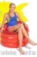 Wholesale Jilong modern sectional sofa set living room furniture single inflatable sofa inflatable chair85 CM