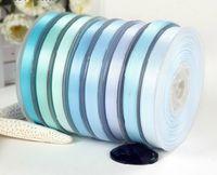 Satin aqua furniture - yards Double faced Satin ribbon Light Blue Group I Aqua Lt Blue mm