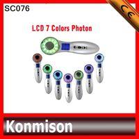 Wholesale Portable Beauty Equipment MHZ Ultrasonic Photon Skin Rejuvenation Machine LED Photon Color for skin rejuvenation whitening home use SC076