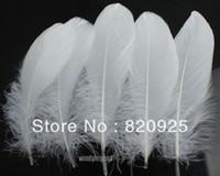 Wholesale 100pcs White Color Goose Feather cm inch Wedding Party DIY Decor Crafts