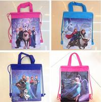 arrival hans - 12pcs new arrival frozen Prince Hans non woven string backpack for kids children s school bag