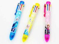Wholesale 2014 new Frozen ball pen Cartoon Ball point pen Lovely Frozen color Ballpoint pen Hot Stationery gift