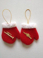 Wholesale Fabric Christmas ornaments decoration gloves crafts Santa Claus Snowman deer gift christmas