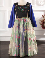 Frozen Autumn Princess Dress Elsa & Anna Long Sleeve Chi...