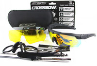 acrylic shot glasses - ESS Crossbow Crossbow US military tactical goggles tactical ballistic shooting glasses outdoors