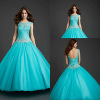 quinceanera dress - Unique Style For Girls Ball Gown Turquoise Quinceanera Dresses Scoop Embroidery Quinceanera Gowns