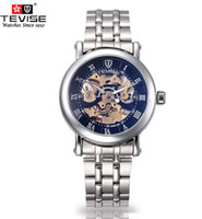 Wholesale Skeleton Style TEVISE men s watch Luxury brand mechanical automatic watch for men TV12