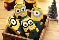 silicone gel - 3D Despicable Me Cartoon Soft Silicone Gel Rubber Case Cover Cute Smile Big Eye More Minions Skin for iphone ipod touch G S S G C