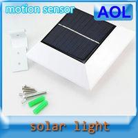 Wholesale Wall lamp Solar Powered Sensitive Motion Sensor led lamp LEDs Outdoor Detection auto Light gardens villa backyards building corridor