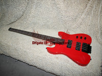 best bass head - Best Selling RED strings NO Head Electric Bass High Quality Headless bass