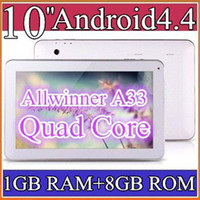 Wholesale 30pcs GHZ GB GB Quad Core Allwinner A33 A31S A23 android dual camera inch quot tablet pc Bluetooth USB OTG PB10