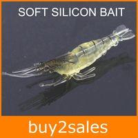 Wholesale Extremely Lure Soft Silicon Bait mm Long g Noctilucence Shrimp Design Shrimp Hook Fishing Worm Lures DP