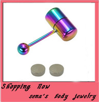Cheap Acrylic, Resin, Lucite tongue piercing stud Best Chirstmas tongue ring sexy tongue ring