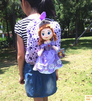 better hands - 2014 New Arrival Sofia Princess Plush Toys Children s School Bag Cute Kids Purple Backpack Hand Bags Better Birthday Christmas Gift