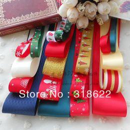Wholesale 19meters set Mixed grosgrain ribbon Organza Satin Ribbons Tape printed grosgrain ribbons set Children Hair Accessory