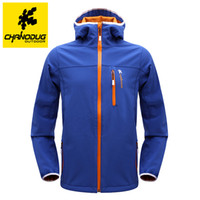 Wholesale CHANODUG Softshell mountaineering wear Waterproof hiking jacket for couples