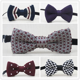 Wholesale Children s knitted bow tie Tide treasure for children s clothes accessories more than new style pattern optional baby bow tie