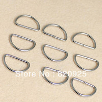 Wholesale 100X D Ring Metal Dee Ring Non Welded Nickel Plated For Purse Bag Craft quot