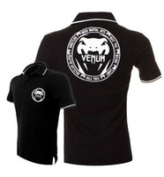 Men Cotton V_Neck wholesale---VENUM Polo shirt sportwear Print Shirt 100% Cotton--Do not miss