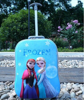 Wholesale 2014 new fashion inch luggage kids travel bags children trolley frozen bags patterns hello kitty frozen suitcase bags for kids