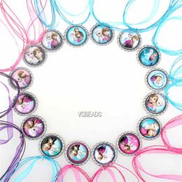 Wholesale 2014 New Fashion Mixed cm Frozen Necklaces Colorful Ribbon Necklace Charm Cartoon Pendants Baby Clothes Girls Lace Dress Accessories